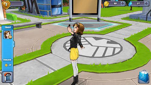截图MARVEL: Avengers academy在iPhone