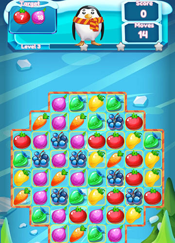 3 Gewinnt-Spiele Winter fruit mania auf Deutsch