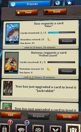 Online Battle cards savage heroes TCG für das Smartphone