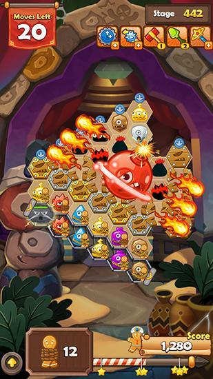 Arcade Monster busters: Hexa blast für das Smartphone