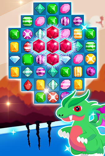 Arcade-Spiele Jewels legend: Island of puzzle. Jewels star gems match 3 für das Smartphone