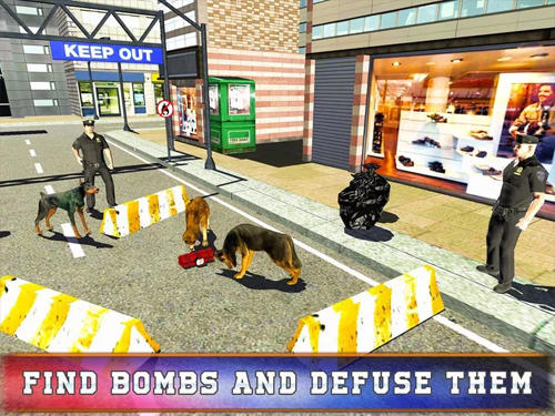 Simulator-Spiele Police dog training simulator für das Smartphone