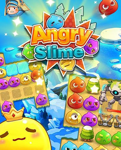Angry slime: New original match 3 Symbol