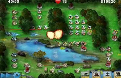 Screenshot Schlachtfeld Verteidigung auf dem iPhone