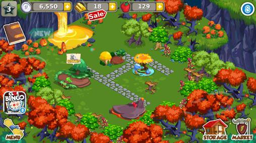 Simulation games Dragon story: Halloween for smartphone