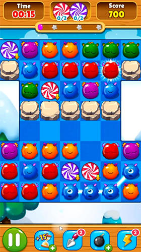 d'arcade Candy monsters match 3 pour smartphone