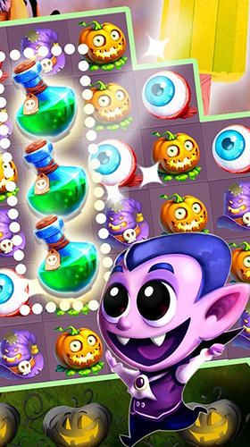 Halloween witch: Fruit puzzle für Android