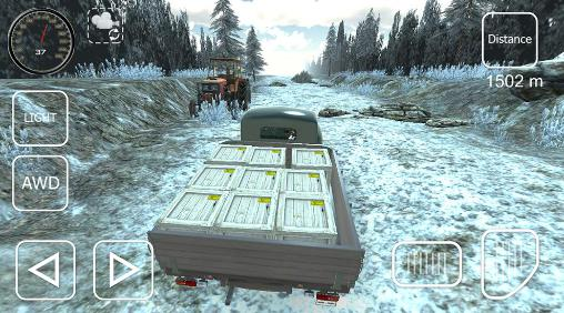 Offroad cargo pickup driver Screenshot