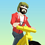 Crazy bike rider Symbol