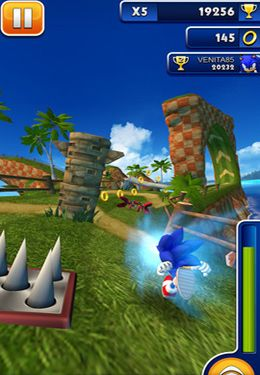 Captura de pantalla La carrera de Sonic en iPhone