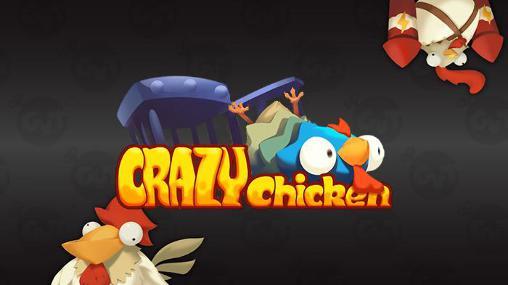 Crazy chicken icon