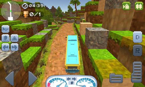 Off-road: Hill driver bus craft Screenshot