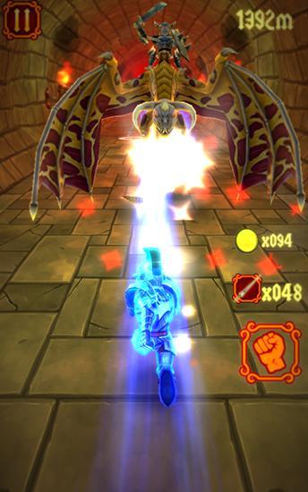 Laufspiele Brave knight rush für das Smartphone