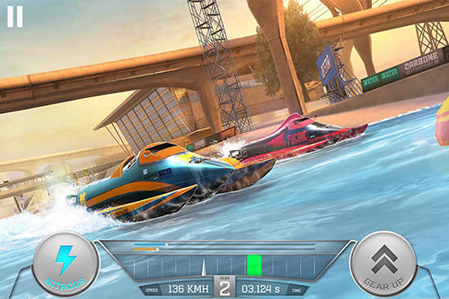Boat racing 3D: Jetski driver and furious speed in English