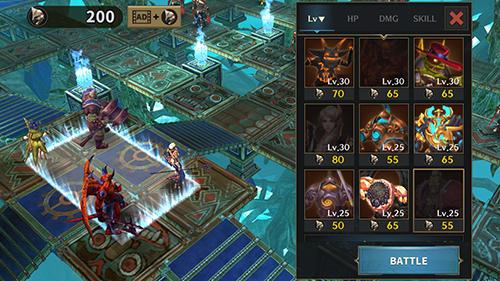 Dungeon simulator: Strategy RPG captura de tela 1