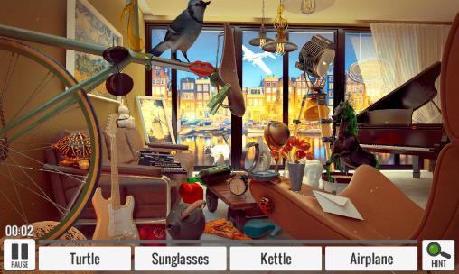 Abenteuer-Spiele Hidden objects: Living room für das Smartphone