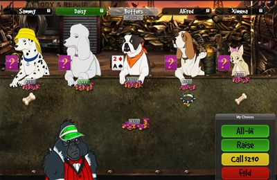 Dogs Playing Poker in English