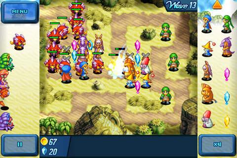 Screenshot Crystal Defenders on iPhone