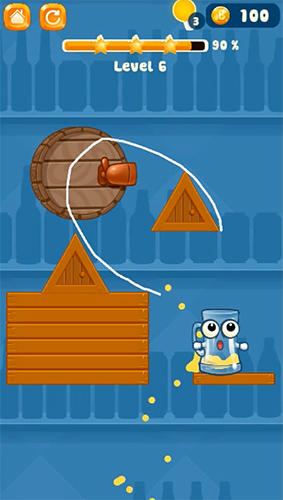 Happy beer glass: Pouring water puzzles für Android