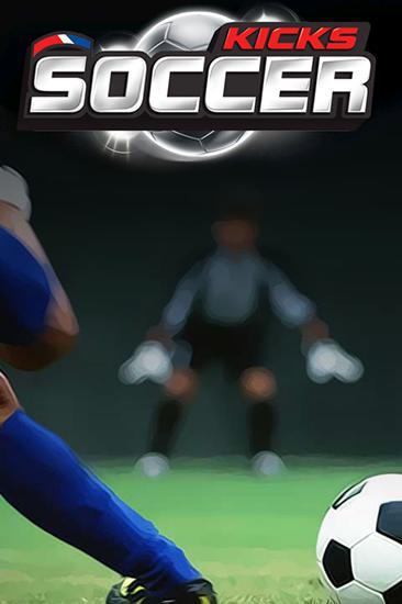 Finger free kick master. Kicks soccer Symbol