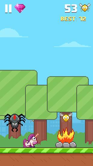 Flappy Bird ähnelnden Spiele Hoppy frog 2: City escape auf Deutsch