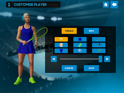 AO tennis game для Android