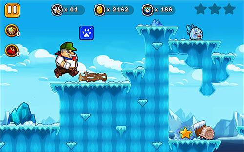 Arcade-Spiele Super Arthur adventures run für das Smartphone