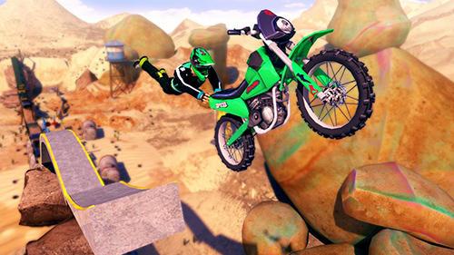 Rennspiele Real bike stunts für das Smartphone
