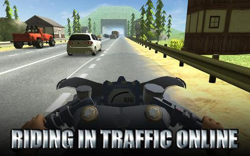 Riding in traffic online Screenshot