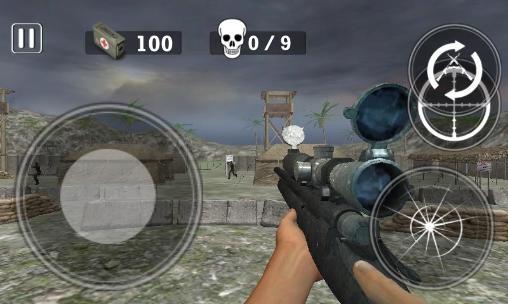 FPS-Spiele Modern army: Sniper shooter auf Deutsch