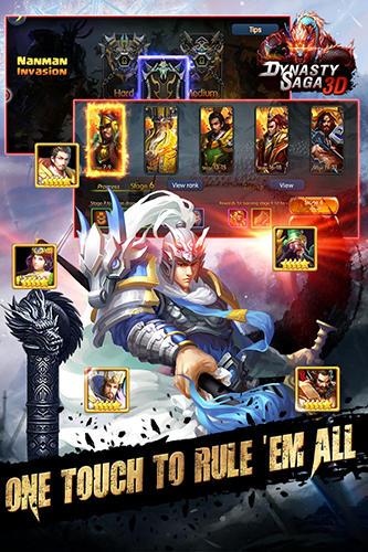 Onlinespiele Dynasty saga 3D: Three kingdoms für das Smartphone