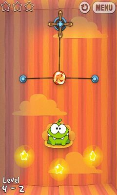 Cut the Rope captura de pantalla 1