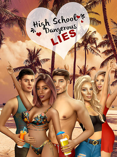 Highschool dangerous lies: Teen story. Love game скріншот 1