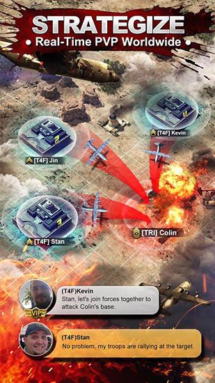 Online War zone: World of rivals für das Smartphone