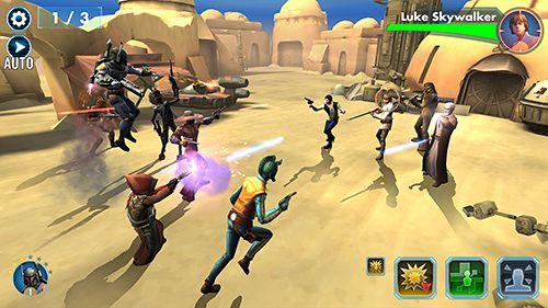截图Star wars: Galaxy of heroes在iPhone