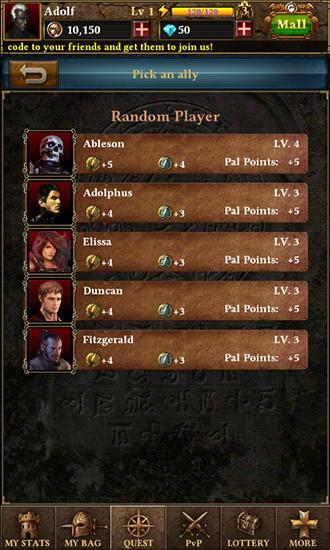 Strategische RPG-Spiele Dark of the demons auf Deutsch
