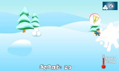 Android用 スノーボールファイト:冬のゲームのHD