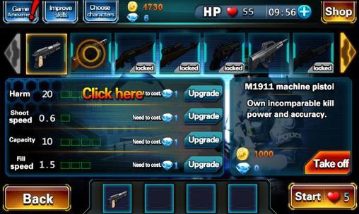 Arcade-Spiele Zombie fire für das Smartphone