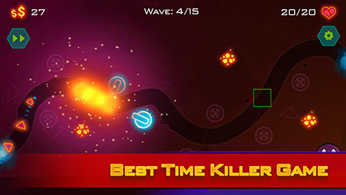 Tower defense: Geometry war for Android