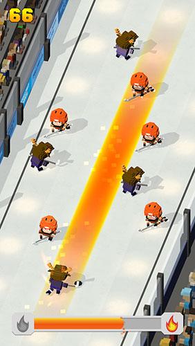 Blocky hockey: Ice runner скриншот 4