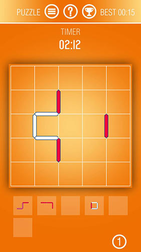 Just contours: Logic and puzzle game with lines auf Deutsch