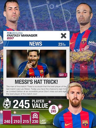 Spiele mit Promis FC Barcelona fantasy manager 2017 auf Deutsch