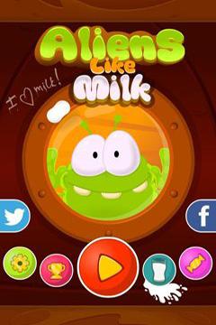 logo Aliens like milk