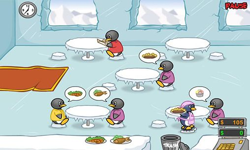 Penguin diner. Ice penguin restaurant screenshot 1