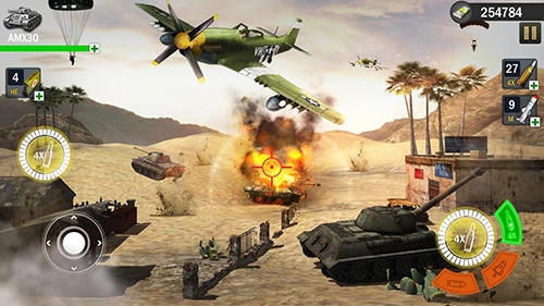 Tank war blitz 3D captura de tela 3