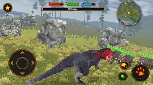 Simulator-Spiele Clan of carnotaurus für das Smartphone