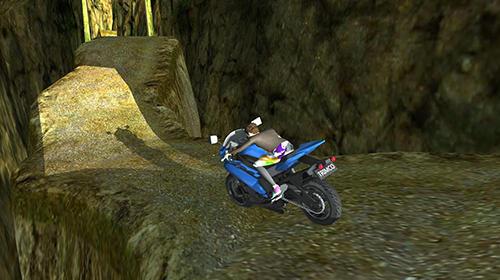 Rennspiele Off road moto bike hill run für das Smartphone