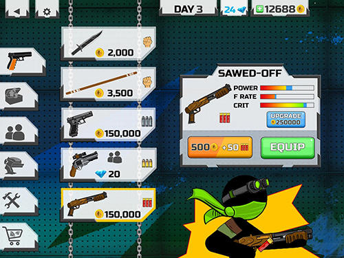 Actionspiele Stickman maverick: Bad boys killer für das Smartphone