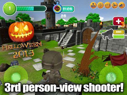 Juegos de acción Toy patrol shooter 3D Helloween para teléfono inteligente