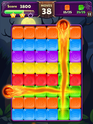 Halloween blast: Crush the cubes Screenshot